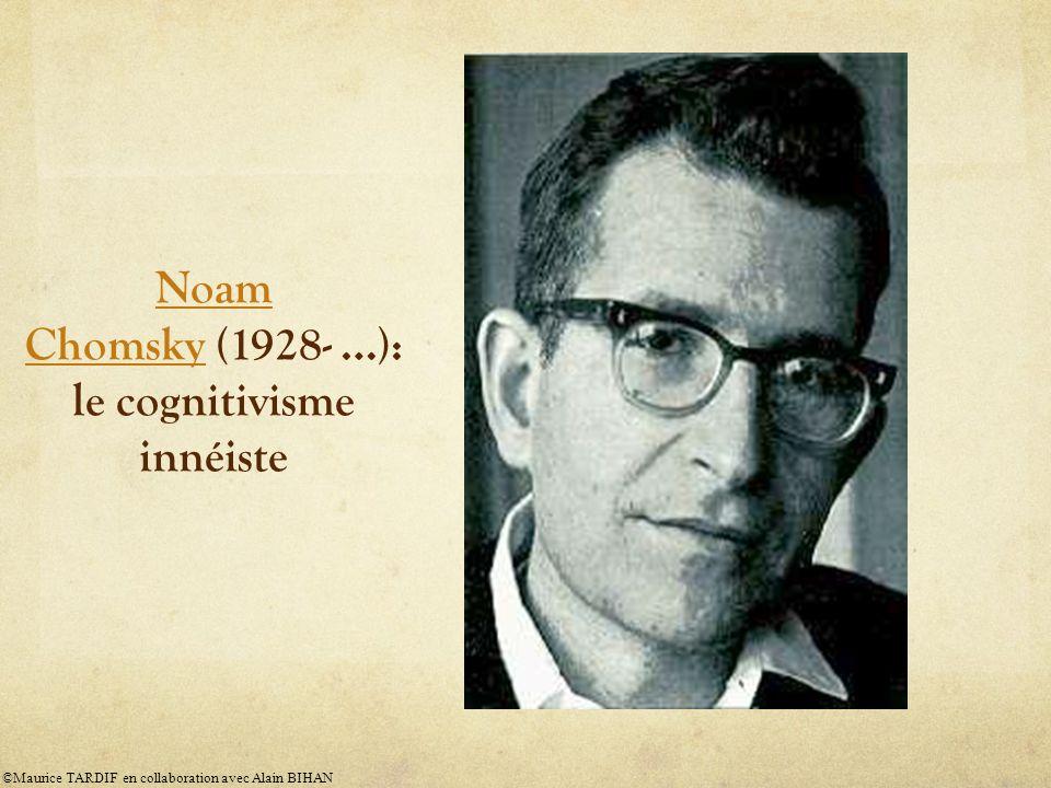 Noam Chomsky (1928- …): le cognitivisme innéiste