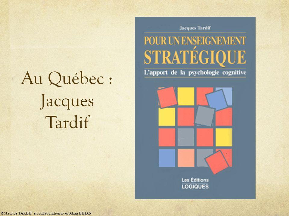 Au Québec : Jacques Tardif