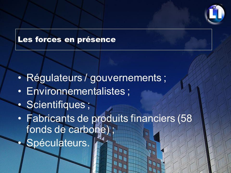 Régulateurs / gouvernements ; Environnementalistes ; Scientifiques ;
