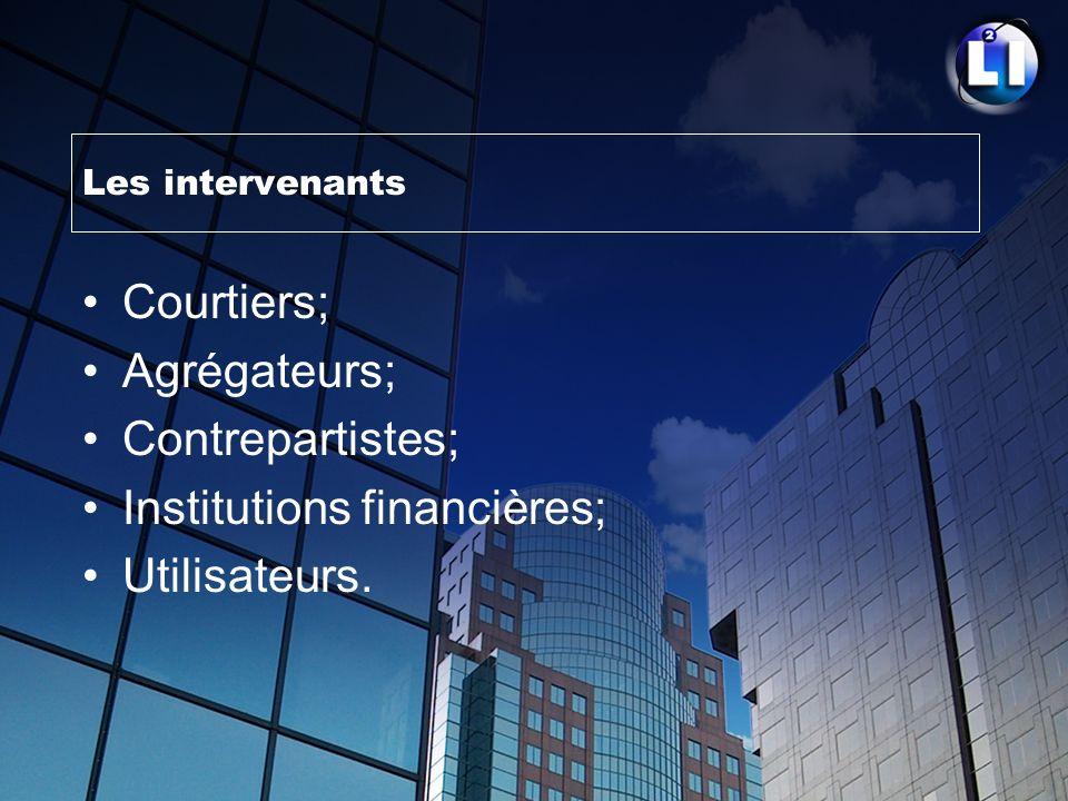 Institutions financières; Utilisateurs.