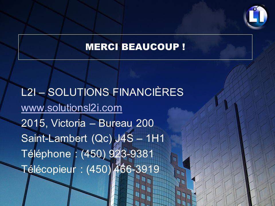 L2I – SOLUTIONS FINANCIÈRES www.solutionsl2i.com