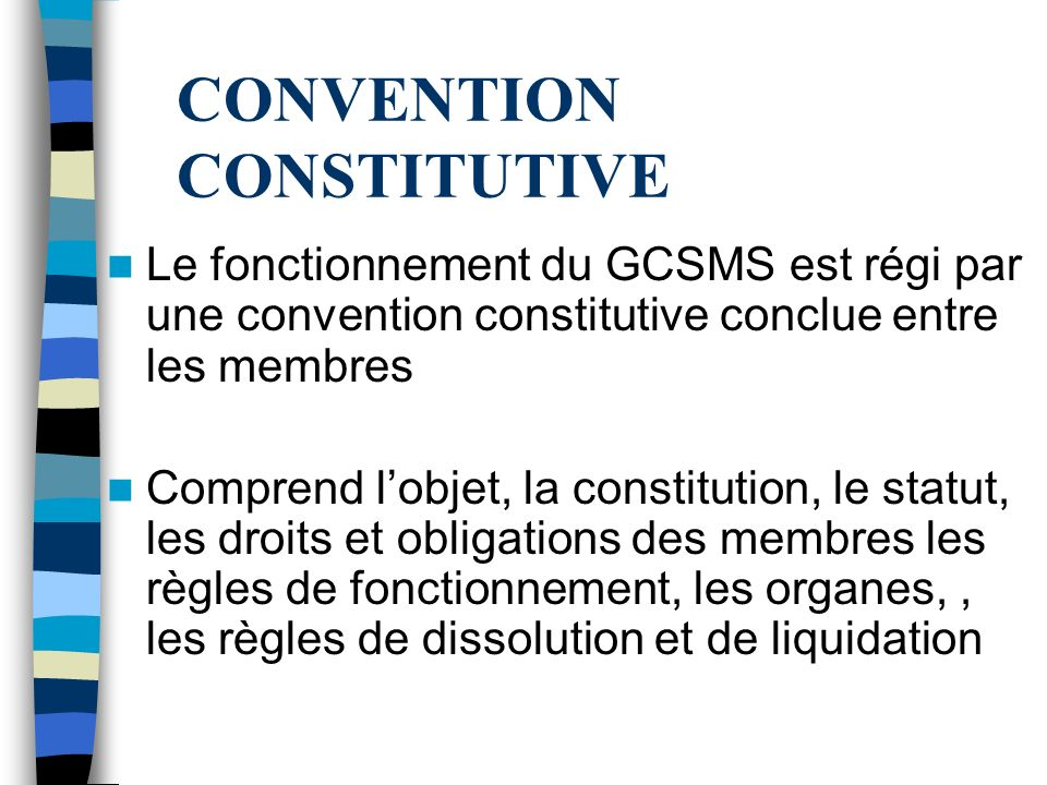 CONVENTION CONSTITUTIVE