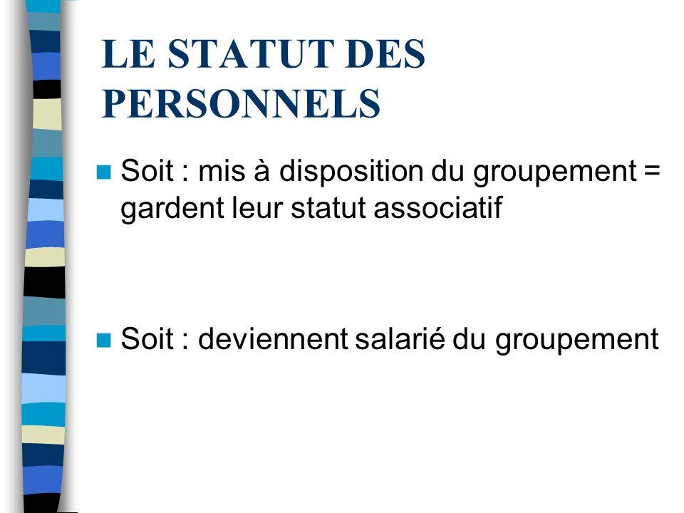 LE STATUT DES PERSONNELS