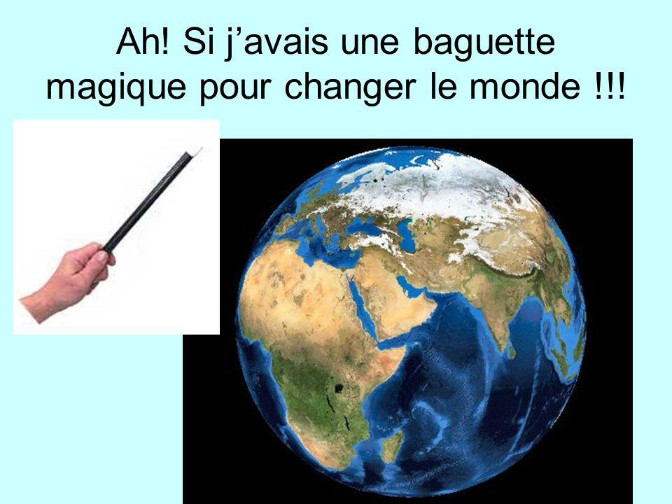 Ah! Si j'avais une baguette magique pour changer le monde !!!