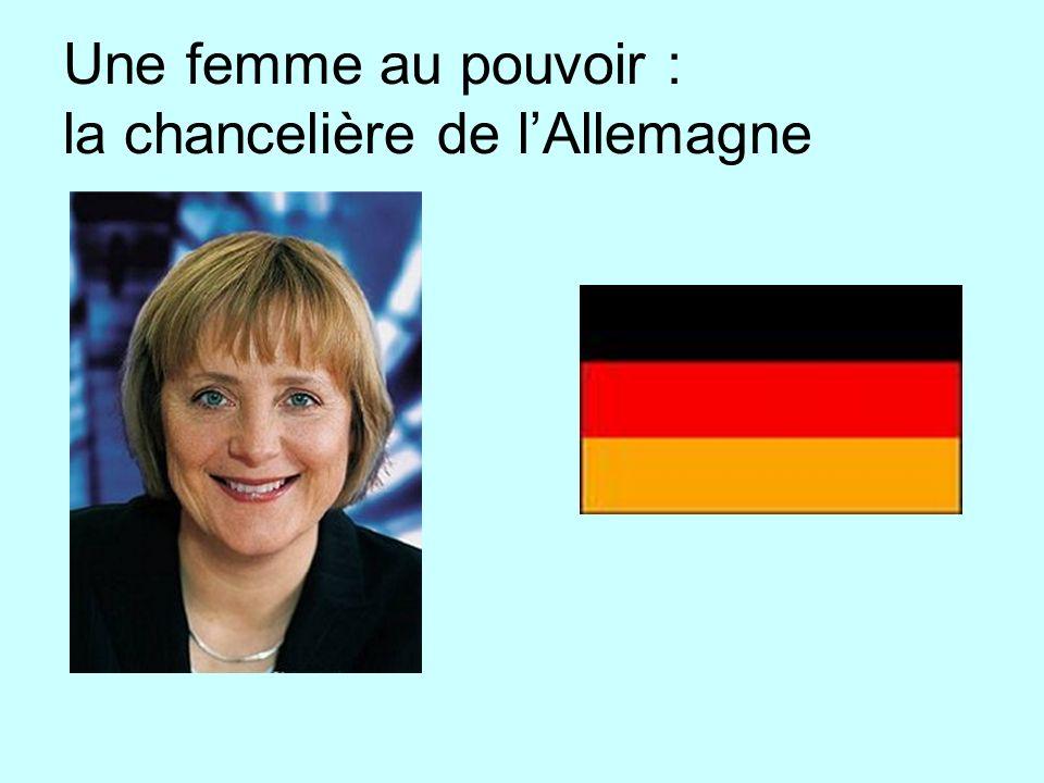 Une femme au pouvoir : la chancelière de l'Allemagne