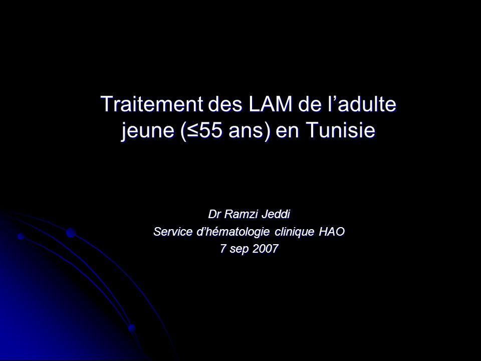 Traitement des LAM de l'adulte jeune (≤55 ans) en Tunisie