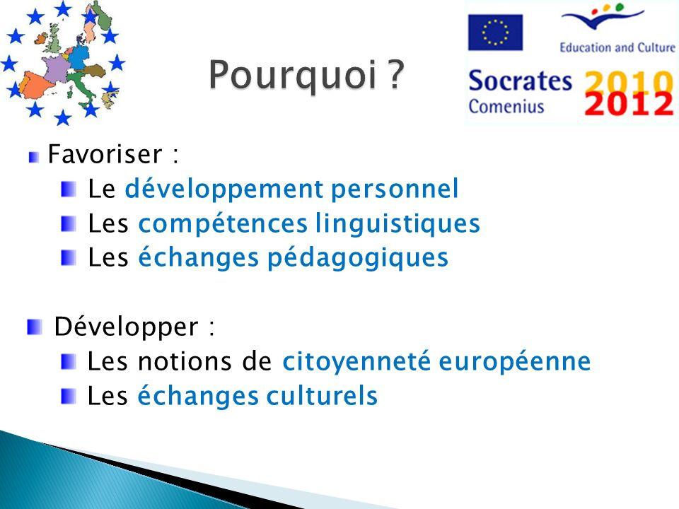 Pourquoi Favoriser : Le développement personnel