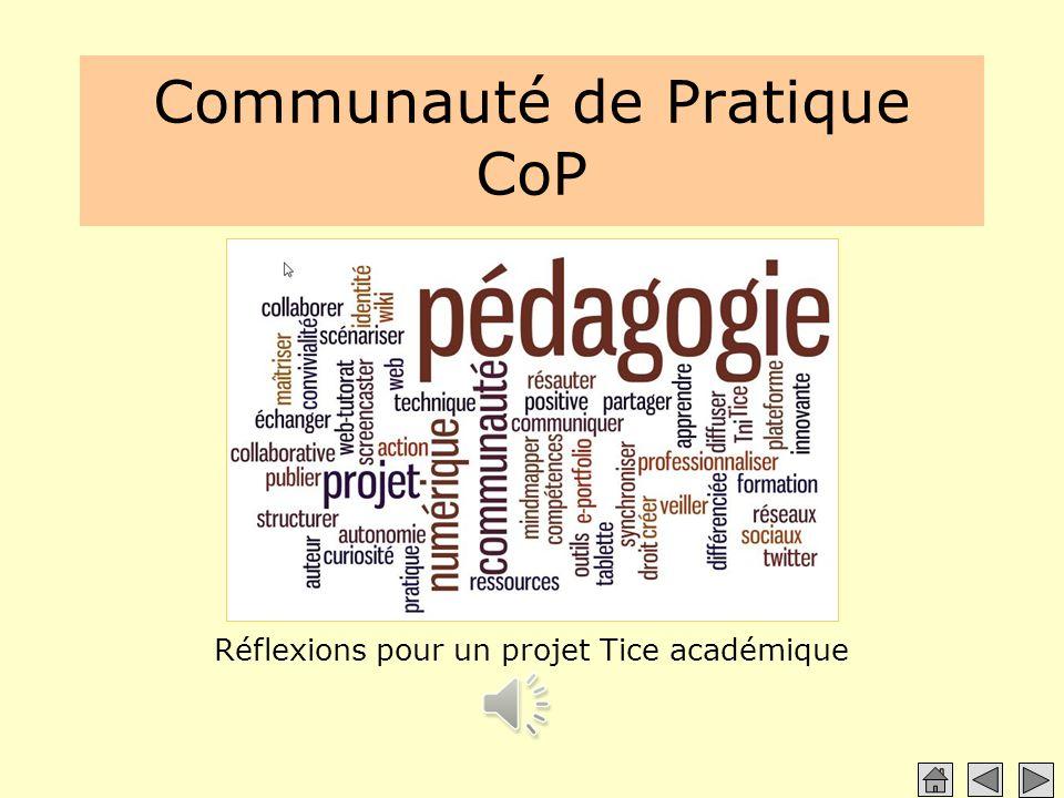 Communauté de Pratique CoP