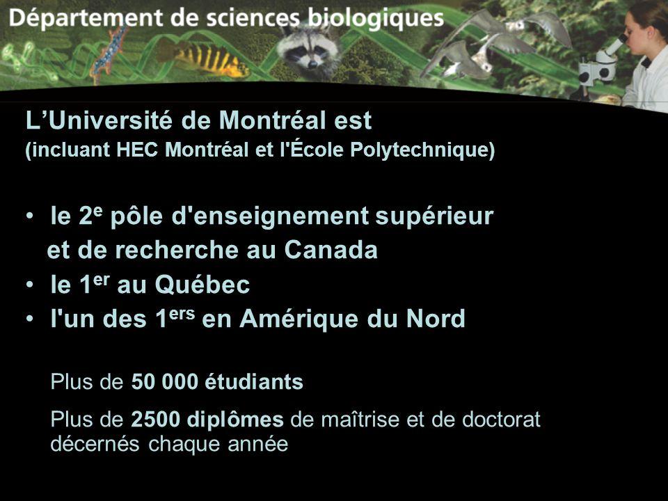 L'Université de Montréal est