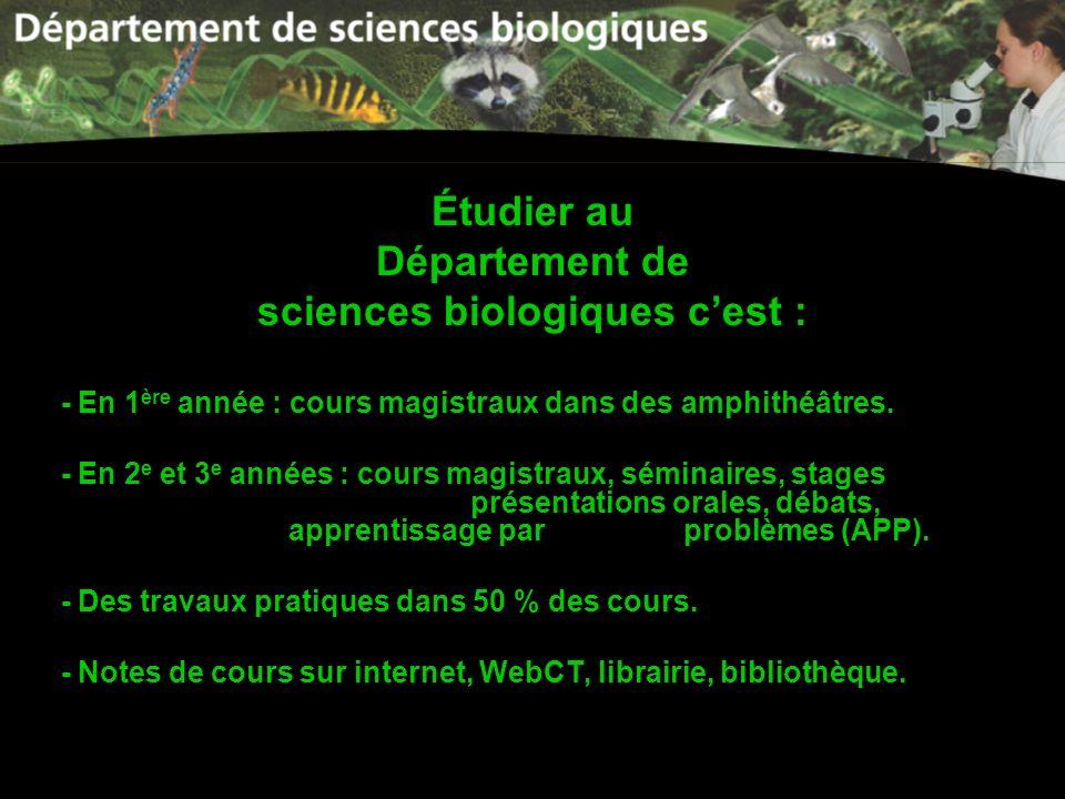 sciences biologiques c'est :