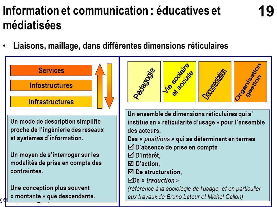 Information et communication : éducatives et médiatisées