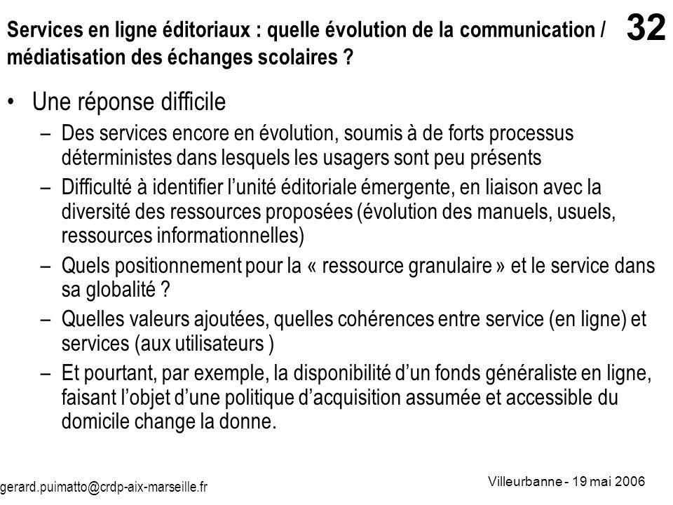Services en ligne éditoriaux : quelle évolution de la communication / médiatisation des échanges scolaires