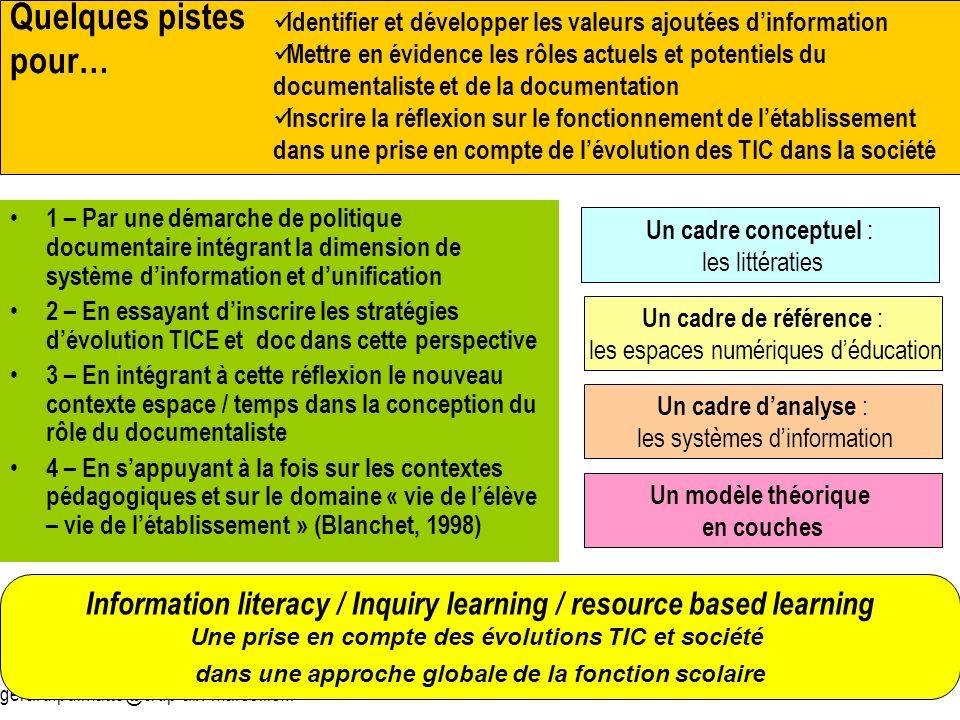 Quelques pistes pour… Identifier et développer les valeurs ajoutées d'information.