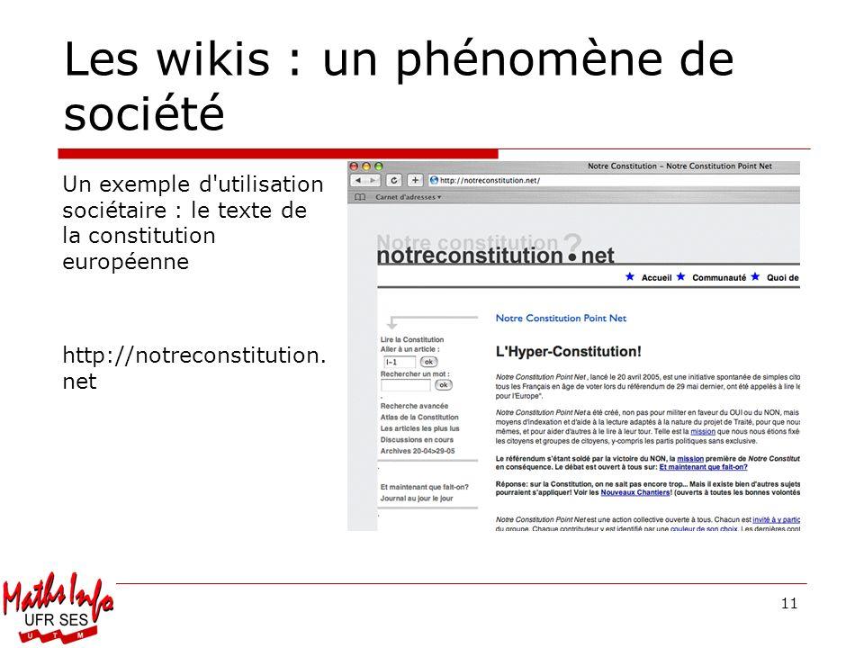Les wikis : un phénomène de société