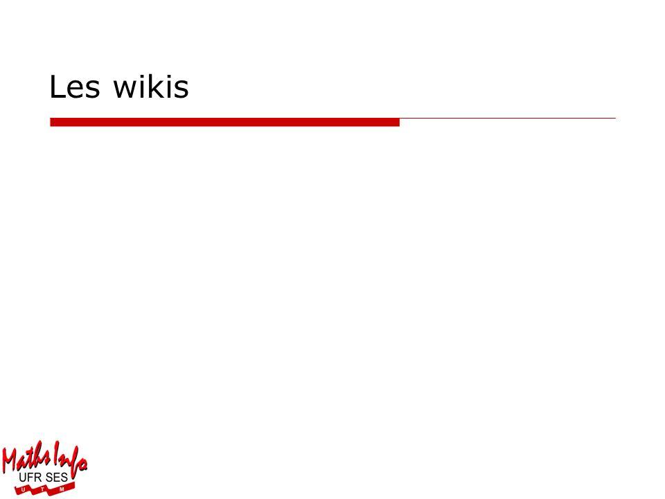 Les wikis Département de Mathématiques et Informatique de Toulouse Le Mirail