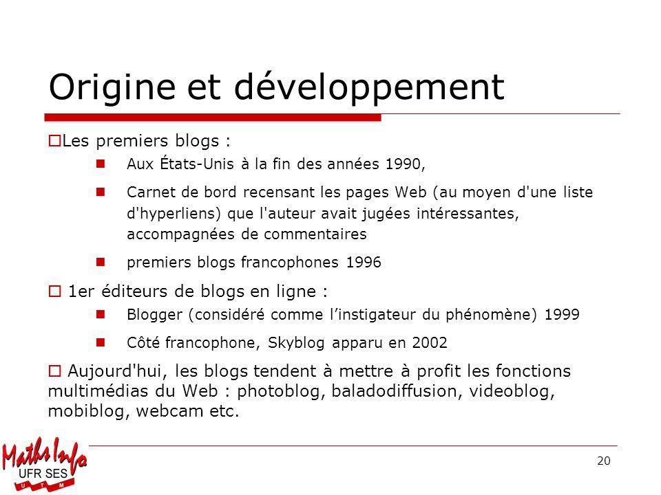 Origine et développement