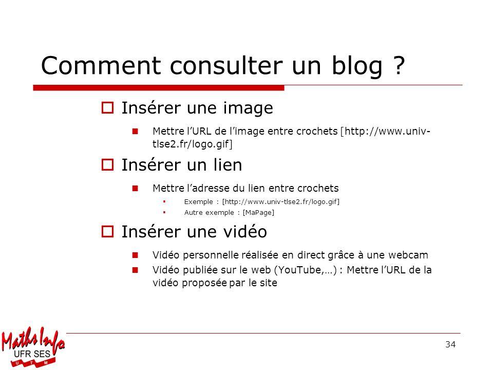 Comment consulter un blog