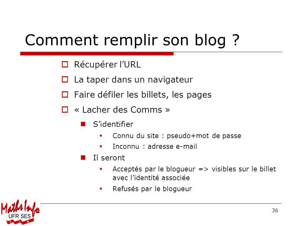 Comment remplir son blog