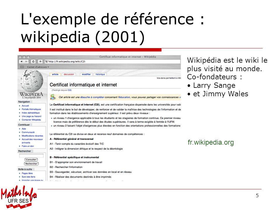 L exemple de référence : wikipedia (2001)