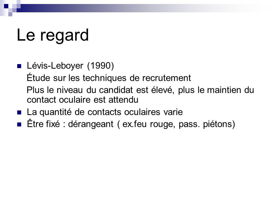 Le regard Lévis-Leboyer (1990) Étude sur les techniques de recrutement