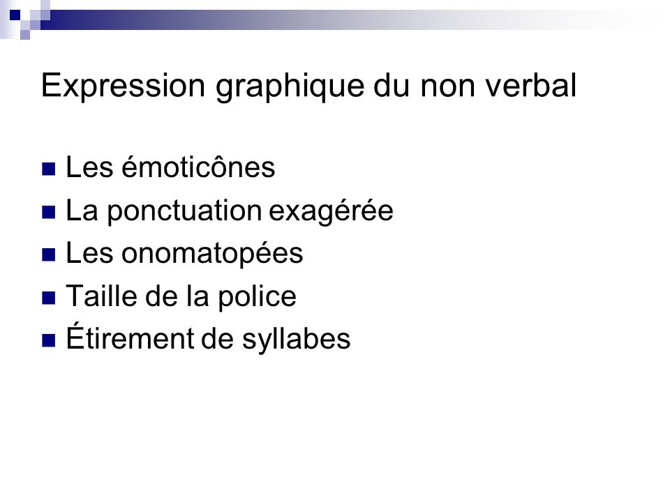 Expression graphique du non verbal