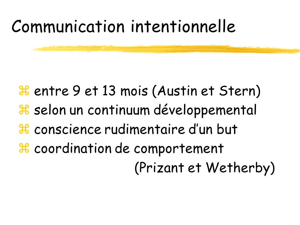Communication intentionnelle