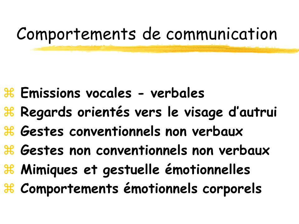 Comportements de communication