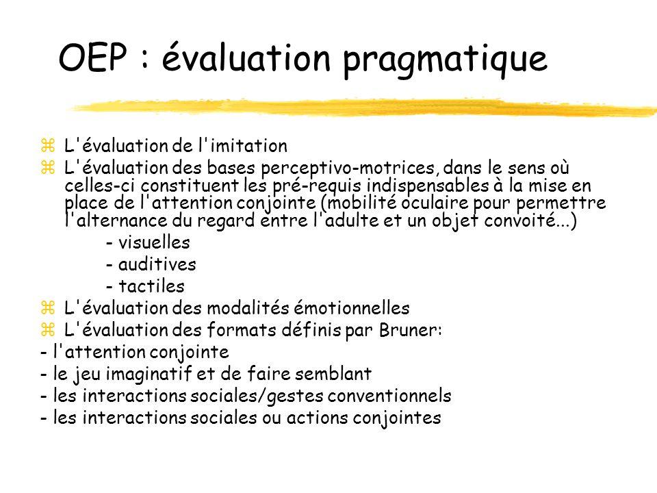 OEP : évaluation pragmatique