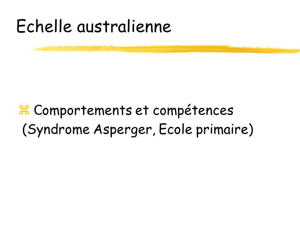 Echelle australienne Comportements et compétences
