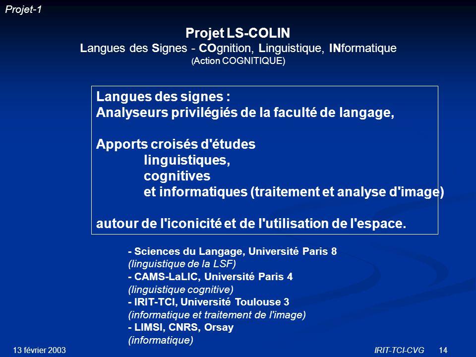 Analyseurs privilégiés de la faculté de langage,