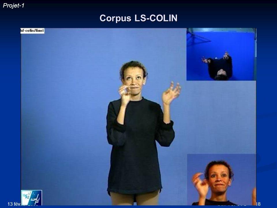 Projet-1 Corpus LS-COLIN 13 février 2003 IRIT-TCI-CVG
