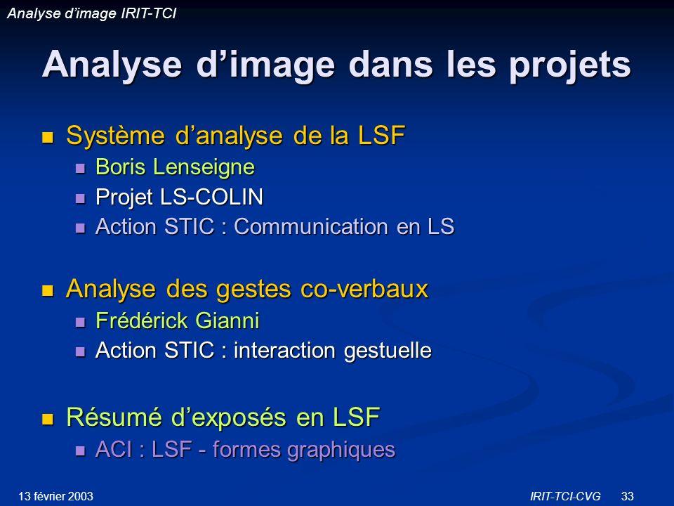 Analyse d'image dans les projets