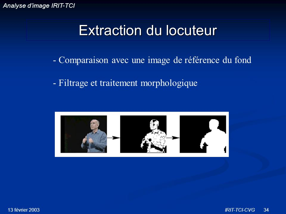 Extraction du locuteur