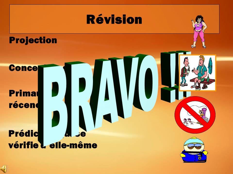 Révision BRAVO !!! Projection Concept de soi Primauté-récence