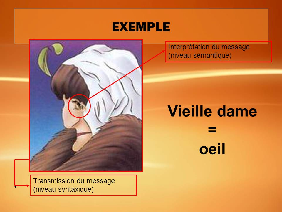 Vieille dame = oeil EXEMPLE
