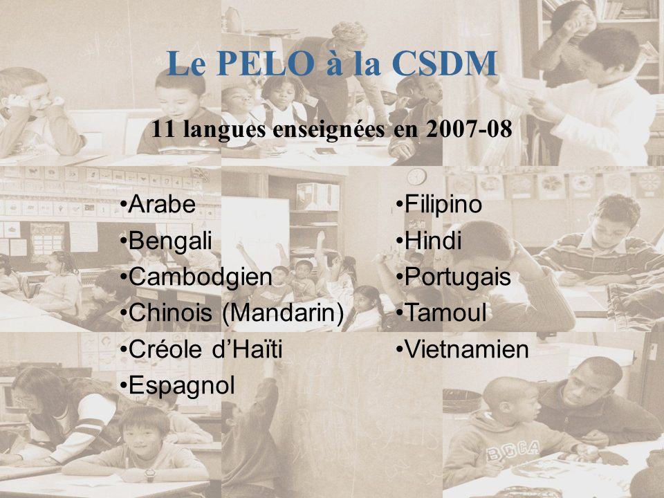 11 langues enseignées en 2007-08