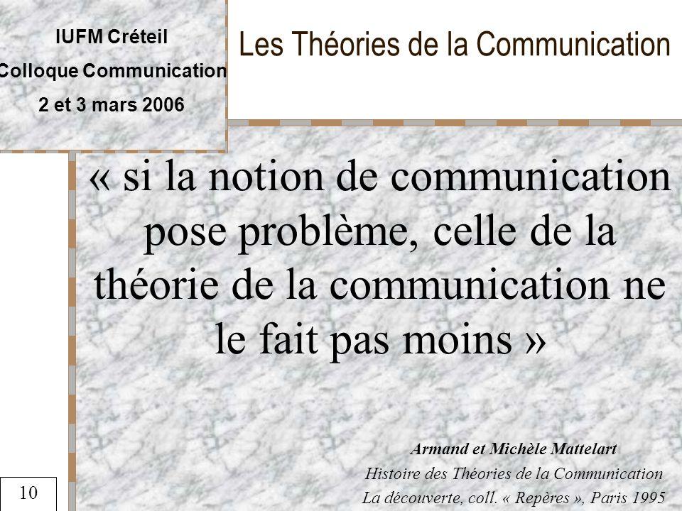 Les Théories de la Communication