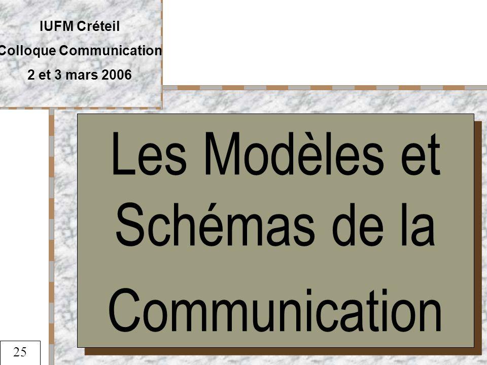 Les Modèles et Schémas de la Communication