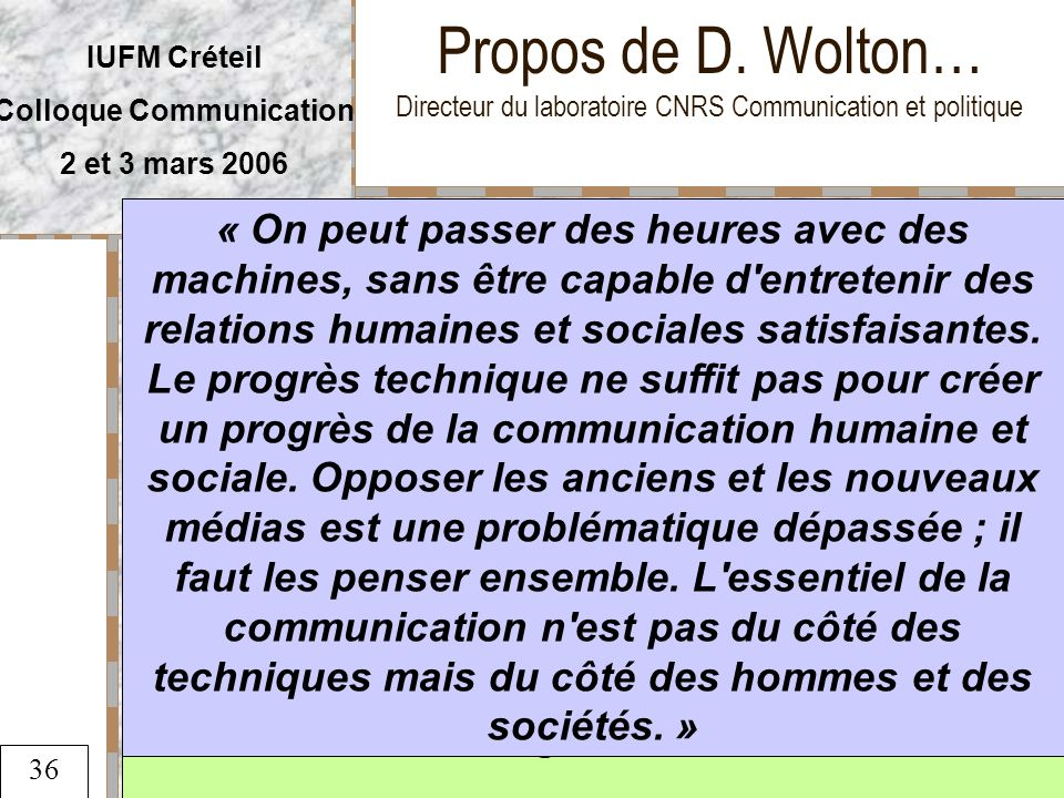 Colloque Communication « Dans la communication,