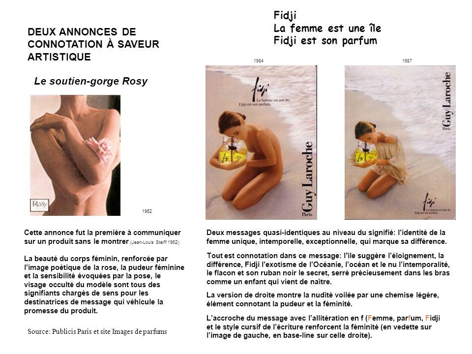 DEUX ANNONCES DE CONNOTATION À SAVEUR ARTISTIQUE