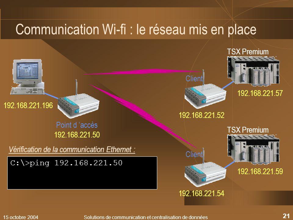 Communication Wi-fi : le réseau mis en place
