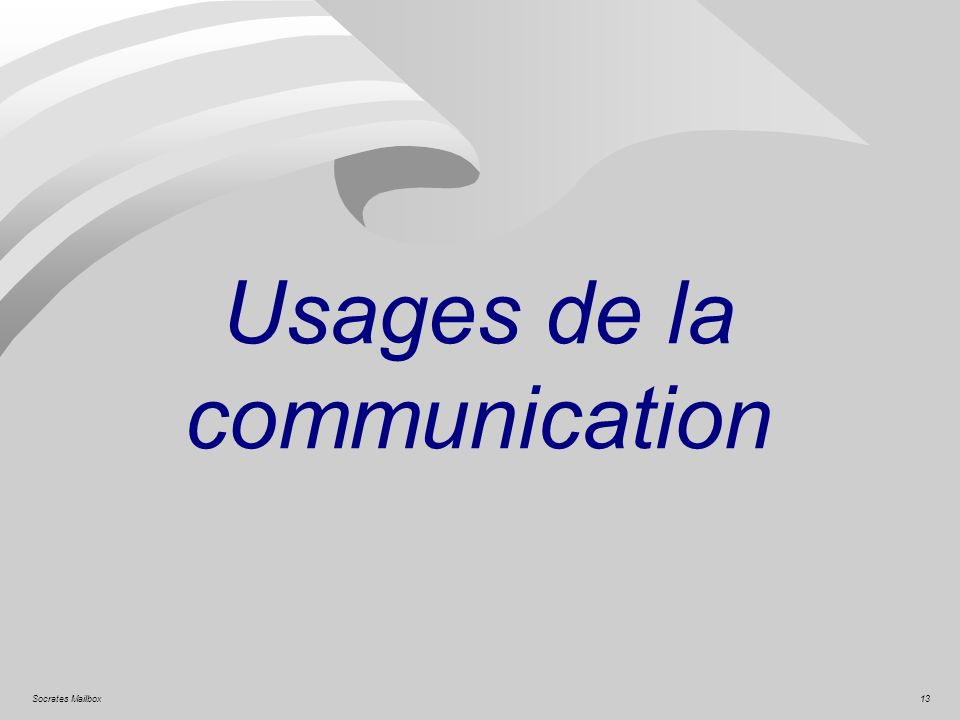 Usages de la communication
