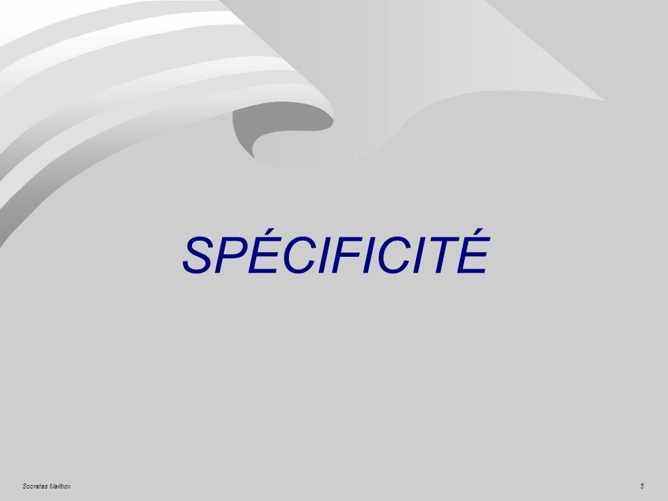 SPÉCIFICITÉ