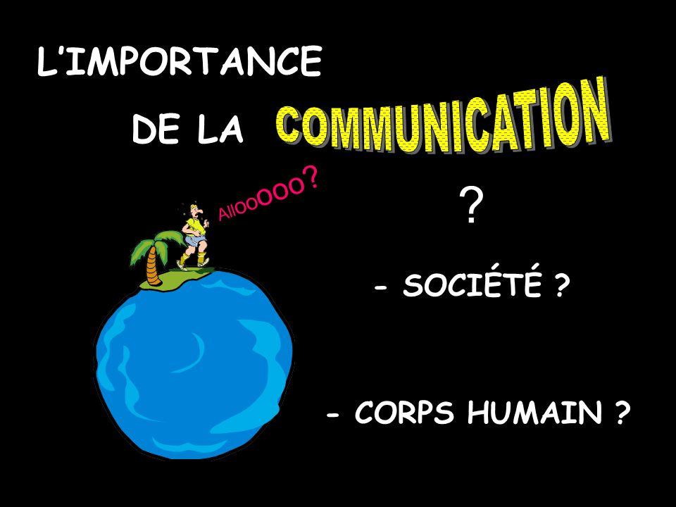 L'IMPORTANCE DE LA COMMUNICATION - SOCIÉTÉ - CORPS HUMAIN