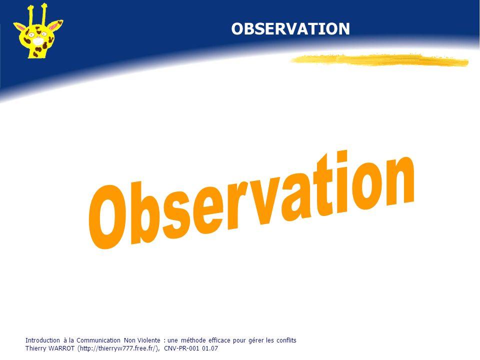 Observation OBSERVATION