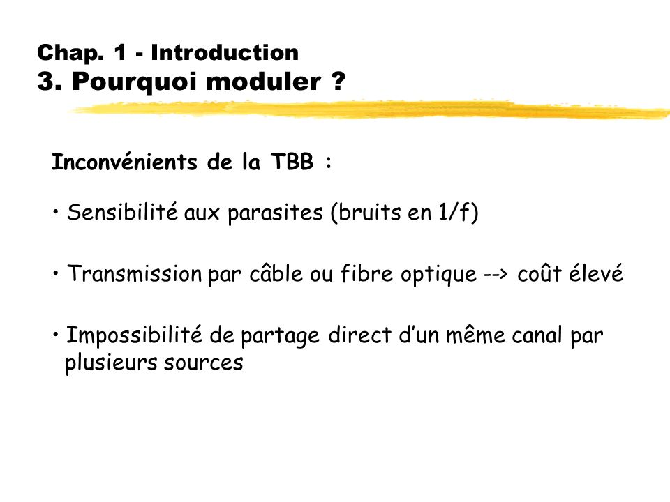 Chap. 1 - Introduction 3. Pourquoi moduler