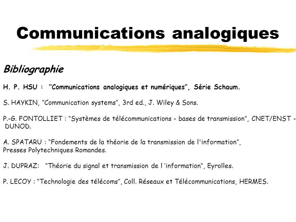 Communications analogiques
