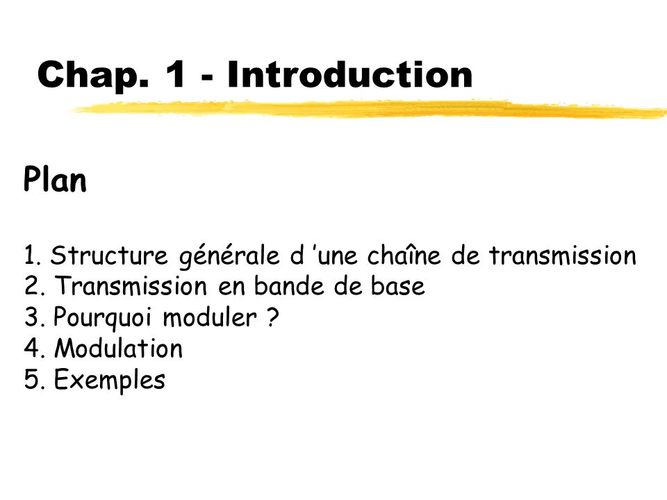 Chap. 1 - Introduction Plan
