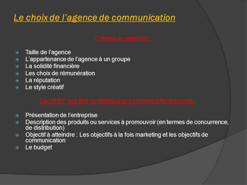 Le choix de l'agence de communication