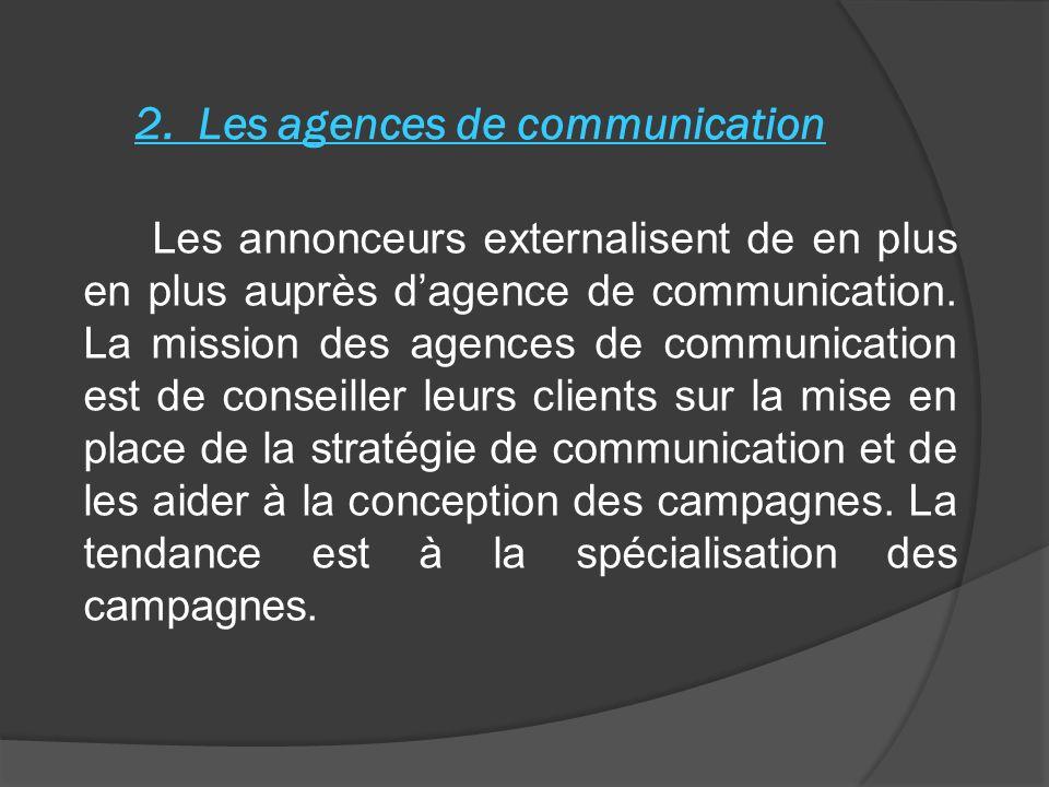2. Les agences de communication